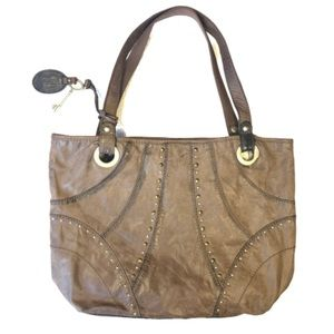 FOSSIL Genuine Leather Rustic Brown Purse! ❤️